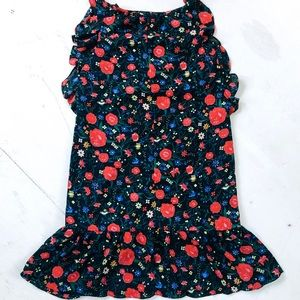 J. Crew Dresses - J. Crew Floral Flutter Sleeve Ruffle Hem Dress